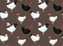 Обои шаржа Сассекс Turken цыпленка безшовные бесплатная иллюстрация