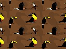 Обои шаржа Toucan Ariel безшовные бесплатная иллюстрация