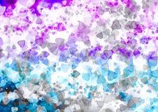 Обои bokeh абстрактных сердец красочные Стоковое Изображение