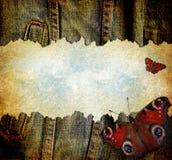 обои grunge джинсовой ткани Стоковое Фото