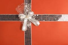оборачивать путя подарка клиппирования красный Стоковое фото RF