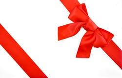 оборачивать тесемки праздника подарка смычка Стоковое Изображение