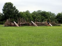 Оборонительная позиция 2 гражданской войны стоковые фотографии rf
