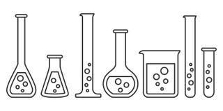 Оборудование для химической лаборатории Стоковая Фотография RF