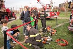 Оборудование и середины пожарных Стоковое Фото
