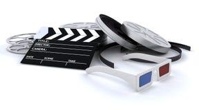 оборудование кино 3d иллюстрация штока