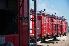 оборудование пожарной машины спасения стоковые фотографии rf