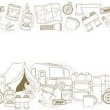 Оборудование располагаться лагерем и туризма Стоковые Фотографии RF
