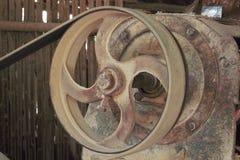 Оборудование, сталь, машина, год сбора винограда, утюг, круг, круг, металл, старый Стоковые Изображения