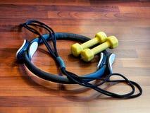 Оборудование тренировки для домашнего фитнеса Стоковые Фотографии RF