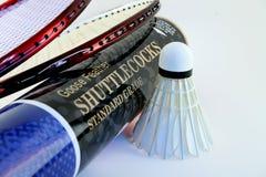 оборудование badminton Стоковые Изображения