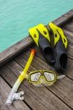 Оборудование Snorkel на моле Стоковая Фотография RF