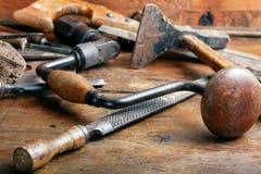оборудует woodworking сбора винограда Стоковые Фотографии RF