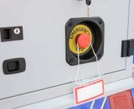 Оборудование аварийного стопа красной кнопки Стоковое Фото
