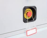 Оборудование аварийного стопа красной кнопки Стоковая Фотография