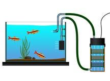 Оборудование аквариума иллюстрация штока