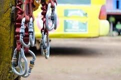 Оборудование взбираться и zipline Стоковая Фотография RF