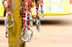 Оборудование взбираться и zipline Стоковые Фотографии RF