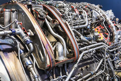Оборудование двигателя турбореактивности авиации Стоковая Фотография RF