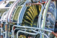 Оборудование двигателя турбореактивности авиации Стоковое фото RF