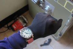 Оборудование и инструменты руки крадя сейф Стоковое Фото