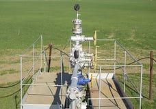 Оборудование и технологии на месторождениях нефти Нефтяная скважина Стоковое Изображение RF