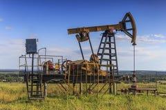 Оборудование месторождений нефти Стоковая Фотография