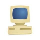 Оборудование настольного компьютера личного оборудования ретро дела стиля технологии деталя компьютера классического античного и  Стоковое фото RF