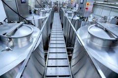 Оборудование на заводе молокозавода Стоковое фото RF