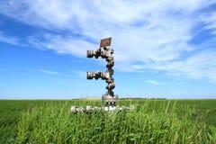 Оборудование нефтяной скважины Стоковые Изображения