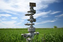 Оборудование нефтяной скважины Стоковая Фотография RF