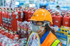 Оборудование огня в экспо дома залы экспоната стоковые фотографии rf