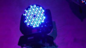 Оборудование освещения для диско Лампа СИД на банкете или зале банкета крыто 4K видеоматериал