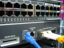 Оборудование переключателя связей кабеля консоли Стоковые Изображения