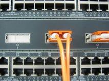 Оборудование переключателя связей оптического волокна GBIC Стоковое фото RF