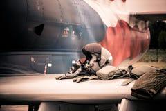 Оборудование пилота реактивного истребителя Стоковые Фотографии RF