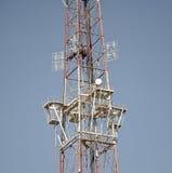 Оборудование радиосвязей - дирекционные тарелки антенны мобильного телефона Стоковое Изображение