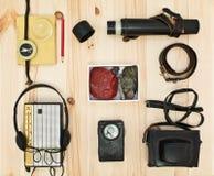 Оборудование собрания для туриста или экспедиции. стоковое изображение rf