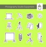 Оборудование студии фотографии Стоковое фото RF