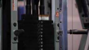 Оборудование тренировки: нагрузки двигая вверх и вниз видеоматериал