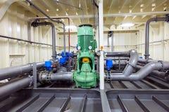 Оборудование трубопровода - водяная помпа Стоковые Изображения RF