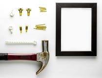 Оборудование установки ногтя крюка картинной рамки Стоковое Фото