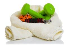 Оборудование фитнеса изолированное на белизне Стоковые Изображения RF