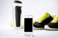 Оборудование фитнеса и здоровое питание Стоковая Фотография RF