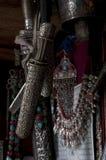 Оборудование фольклора Tibetian серебряное традиционное Стоковая Фотография