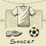 Оборудование футбола Стоковое Фото