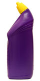 Оборудование чистки изолированное на белой предпосылке покрашенные пластичные бутылки с тензидом Стрельба студии Комплект Стоковая Фотография RF