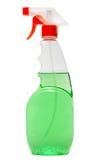 Оборудование чистки изолированное на белой предпосылке покрашенные пластичные бутылки с тензидом Стрельба студии Стоковая Фотография RF
