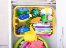 Оборудование чистки дома храня концепция Стоковые Фото