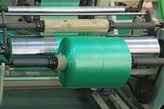 Оборудование для полиэтиленовых пакетов изготовления стоковое изображение rf